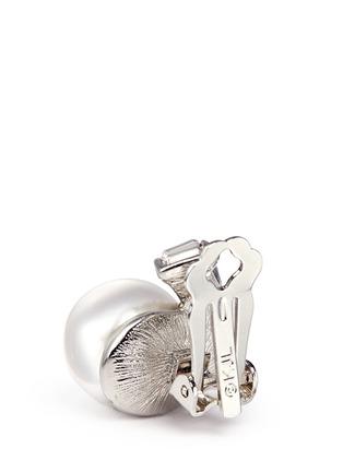 细节 - 点击放大 - KENNETH JAY LANE - 仿水晶人造珍珠夹式耳环