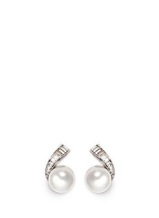 首图 - 点击放大 - KENNETH JAY LANE - 仿水晶人造珍珠夹式耳环