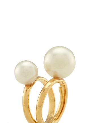 细节 - 点击放大 - KENNETH JAY LANE - 人造珍珠双圈戒指