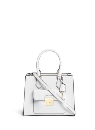 首图 - 点击放大 - MICHAEL KORS - Bridgette中号十字纹真皮手提包