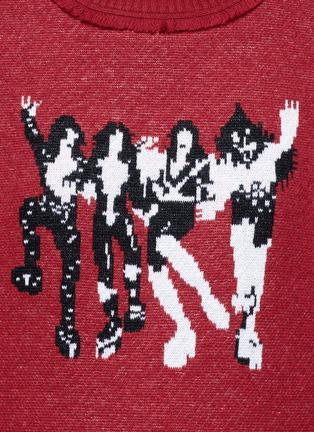 细节 - 点击放大 - GROUND ZERO - 唱片封面主题羊毛针织衫