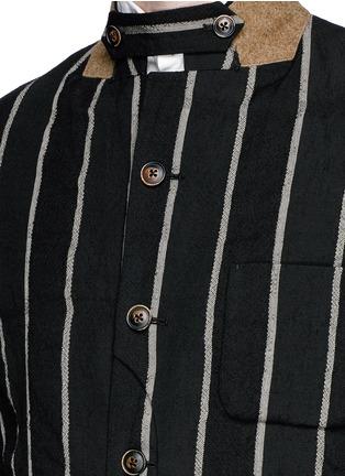 细节 - 点击放大 - UMA WANG  - NEWSPAPER竖纹棉混亚麻西服外套