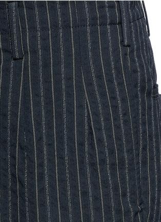 细节 - 点击放大 - UMA WANG  - OSAKA竖纹棉混羊毛长裤