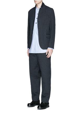 模特儿示范图 - 点击放大 - UMA WANG  - OSAKA竖纹棉混羊毛长裤