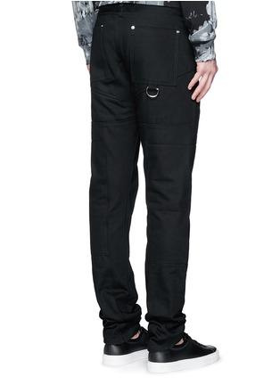 背面 - 点击放大 - HOOD BY AIR - 拼贴装饰纯棉牛仔裤