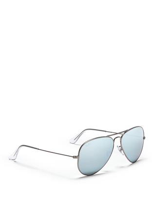 模特儿示范图 - 点击放大 - RAY-BAN - Aviator Large Metal' mirror sunglasses