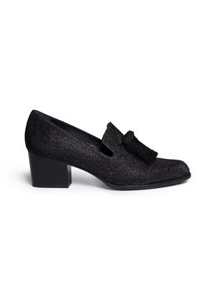 首图 - 点击放大 - STUART WEITZMAN - 'Razmataz' tassel glitter mesh loafers