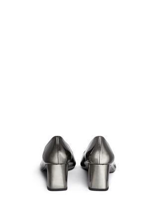 背面 - 点击放大 - STUART WEITZMAN - FIRST CLASS金属色亮面尖头高跟鞋