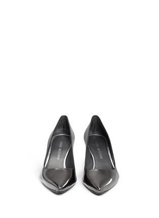 正面 - 点击放大 - STUART WEITZMAN - FIRST CLASS金属色亮面尖头高跟鞋