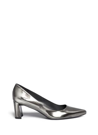 首图 - 点击放大 - STUART WEITZMAN - FIRST CLASS金属色亮面尖头高跟鞋