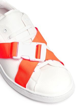 细节 - 点击放大 - JOSHUA SANDERS - 交叉罗纹带装饰运动鞋