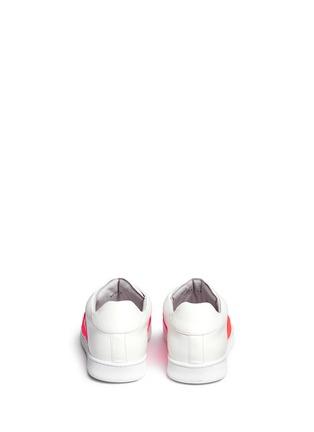 背面 - 点击放大 - JOSHUA SANDERS - 交叉罗纹带装饰运动鞋