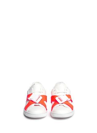 正面 - 点击放大 - JOSHUA SANDERS - 交叉罗纹带装饰运动鞋