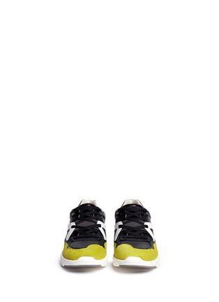 模特示范图 - 点击放大 - DOLCE & GABBANA - 拼接多彩运动鞋