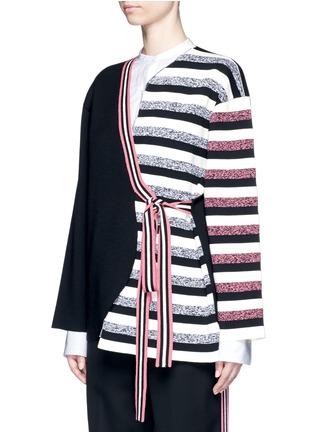 正面 -点击放大 - PORTS 1961 - 不对称系带横纹大衣