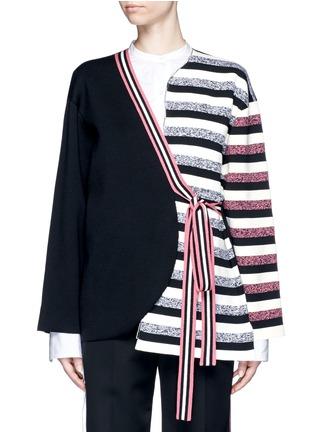 首图 - 点击放大 - PORTS 1961 - 不对称系带横纹大衣