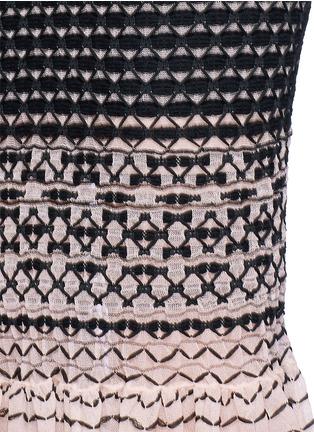 细节 - 点击放大 - ALEXANDER MCQUEEN - 编织纹理渐变鱼尾半身裙