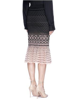 背面 - 点击放大 - ALEXANDER MCQUEEN - 编织纹理渐变鱼尾半身裙