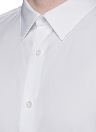 细节 - 点击放大 - ALEXANDER MCQUEEN - 拼色纯棉府绸衬衫