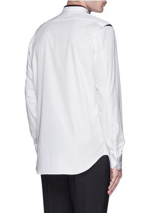 背面 - 点击放大 - ALEXANDER MCQUEEN - 拼色纯棉府绸衬衫