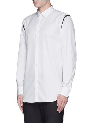 正面 -点击放大 - ALEXANDER MCQUEEN - 拼色纯棉府绸衬衫