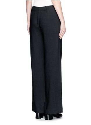 背面 - 点击放大 - HELMUT LANG - 单色绉绸阔腿裤