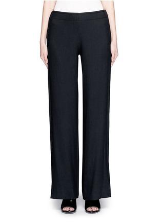 首图 - 点击放大 - HELMUT LANG - 单色绉绸阔腿裤