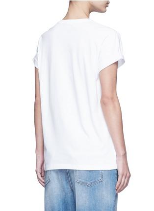 背面 - 点击放大 - STELLA MCCARTNEY - 连线主题小猫刺绣纯棉T恤