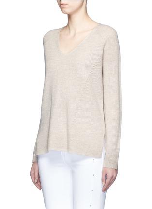 正面 -点击放大 - VINCE - V领羊毛混羊绒针织衫