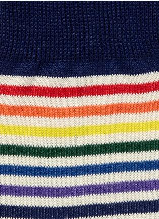 细节 - 点击放大 - PAUL SMITH - 多色条纹混棉袜子