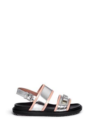 首图 - 点击放大 - Marni - 双色搭带蝴蝶结平底凉鞋